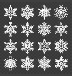 stock snowflakes set isolated vector image