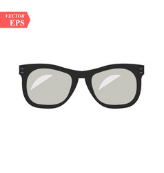 sunglasses black icon on white background vector image