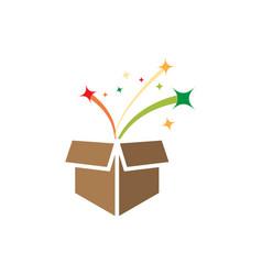 Surprise box icon design template isolated vector