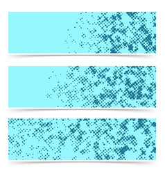 three bright blue dotted abstract pop art style vector image
