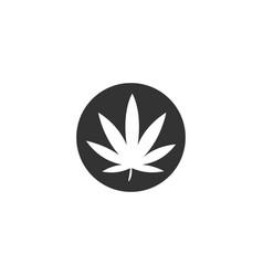 vintage cannabis or ganja logo designs vector image