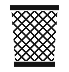 Wastepaper basket icon simple style vector