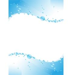 water waves vector image