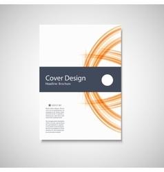 Abstract color line element Wave brochure design vector image