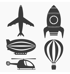 Air Transport Icons vector image vector image