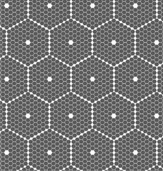 Gray small hexagons forming big hexagons vector image