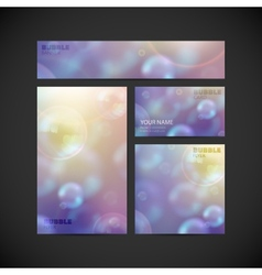 set of visual corporate identity with flying soap vector image