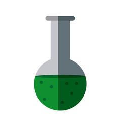 test tube flask laboratory school equipment vector image vector image