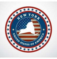 Vintage label New York vector image