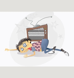 Addicted to TV vector image