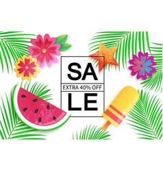 big summer sale background for banner wallpaper vector image vector image