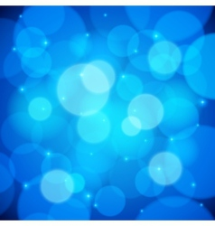 Blue bokeh effect abstract background vector image