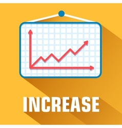 flat increase background concept vector image