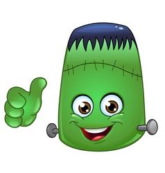 frankenstein emoticon vector image vector image