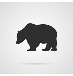 Gray Silhouette of Bear vector image vector image