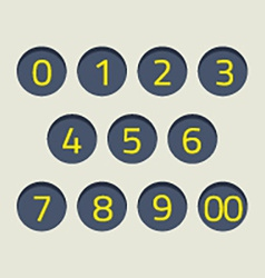 Modern Style Numbers Set vector image