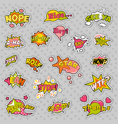 pop art comic speech bubbles set vector image vector image