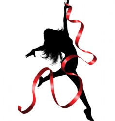 ribbon dancer vector image vector image
