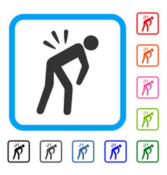 sciatica back pain framed icon vector image