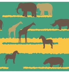 Seamless pattern with african animals vector image vector image