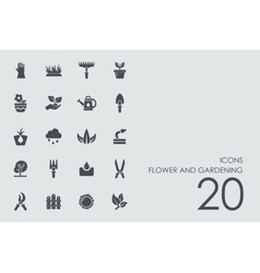 Set of flower and gardening icons vector image vector image