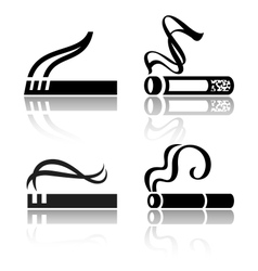 Set of signs cigarettes vector image