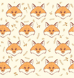 fox seamless vector image