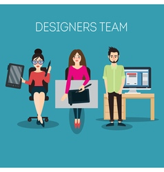 Graphic Designer Artist with Graphic Tablet vector image