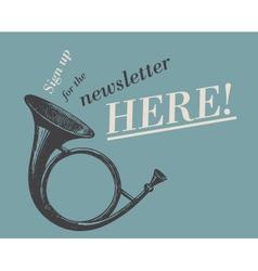Newsletter web ad vector