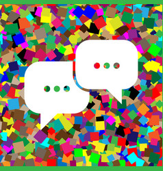 speech bubbles sign white icon on vector image