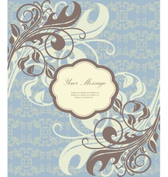 Beautiful floral card vector image