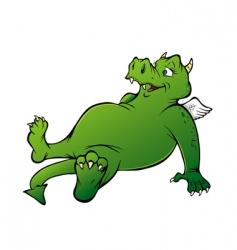 friendly dragon vector image vector image