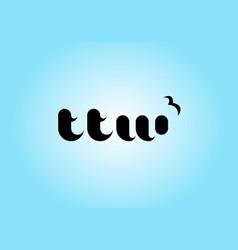 letter ttw logo template premium monogram vector image