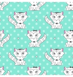 seamless pattern of raccons vector image