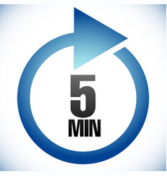 5 minute turnaround time tat icon interval for vector