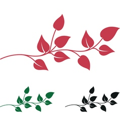 abstract leaves vector image