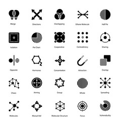 Abstract symbols solid pack vector