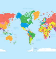 American map world vector