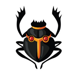 Ancient egypt scarab beetle cartoon vector