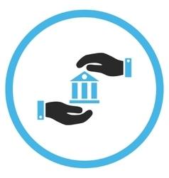 Bank Service Flat Icon vector