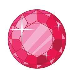 Beautiful Red Ruby Icon vector
