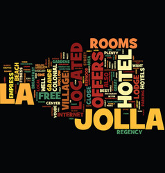 Best hotels in la jolla text background word vector