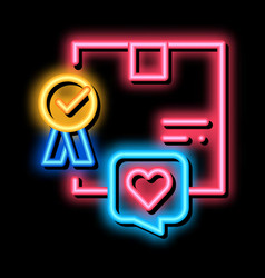 Best product bought client neon glow icon vector