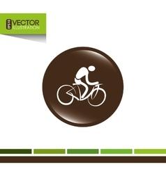 bicycle icon design vector image
