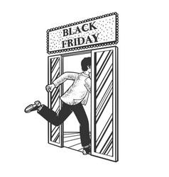 black friday shopping sketch vector image