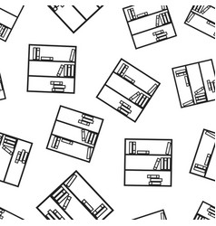 bookcase furniture seamless pattern background vector image