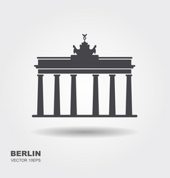 brandenburg gate icon berlin building travel vector image