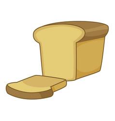 bread icon cartoon style vector image