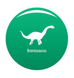 Brontosaurus icon green vector
