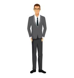 Businessman suit tie business success work vector